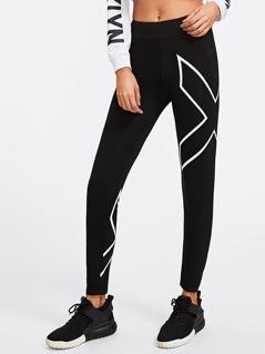 X Print Leggings