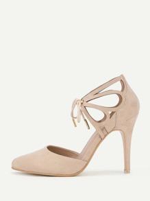 Модные туфли на каблуках с бантом