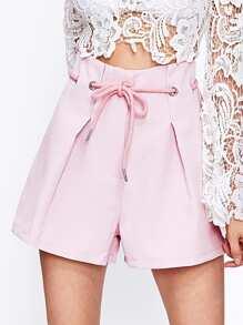 Shorts à maille à lacets