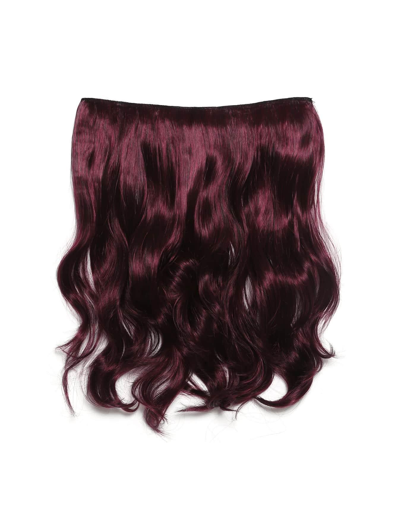 Black & Burgundy Clip In Soft Wave Hair Extension jet black clip in soft wave hair extension 5pcs