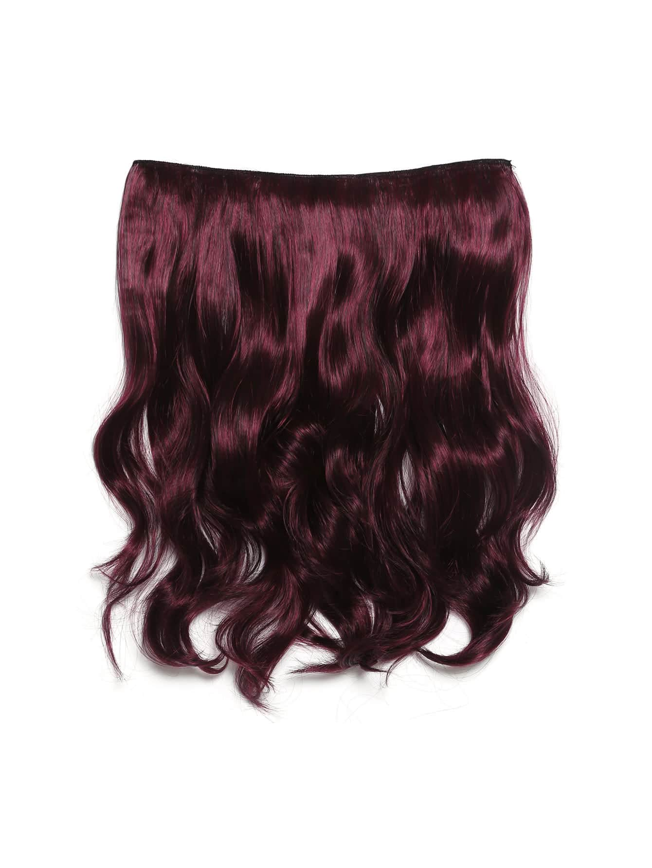 Image of Black & Burgundy Clip In Soft Wave Hair Extension