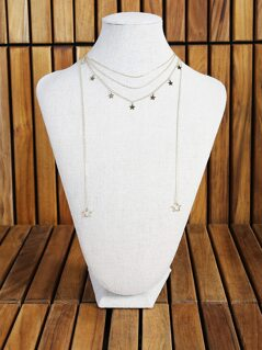 Multi Layer Star Necklace GOLD