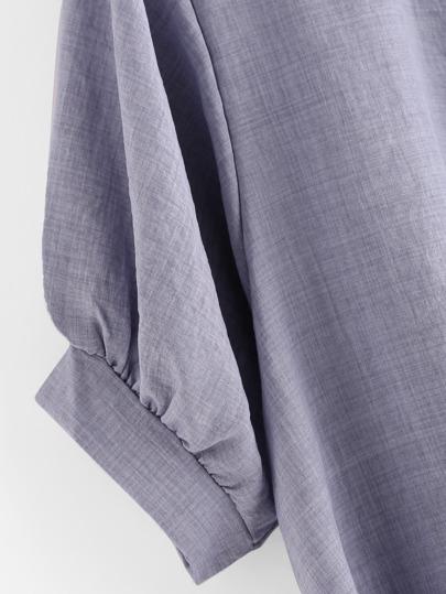 SheIn / Gathered Hem Button Front Shirt