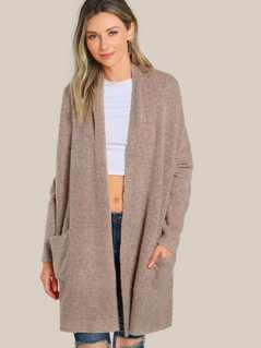 Long Sleeve Knit Cardigan MAUVE