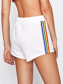 Rainbow Stripe Tape Side Shorts