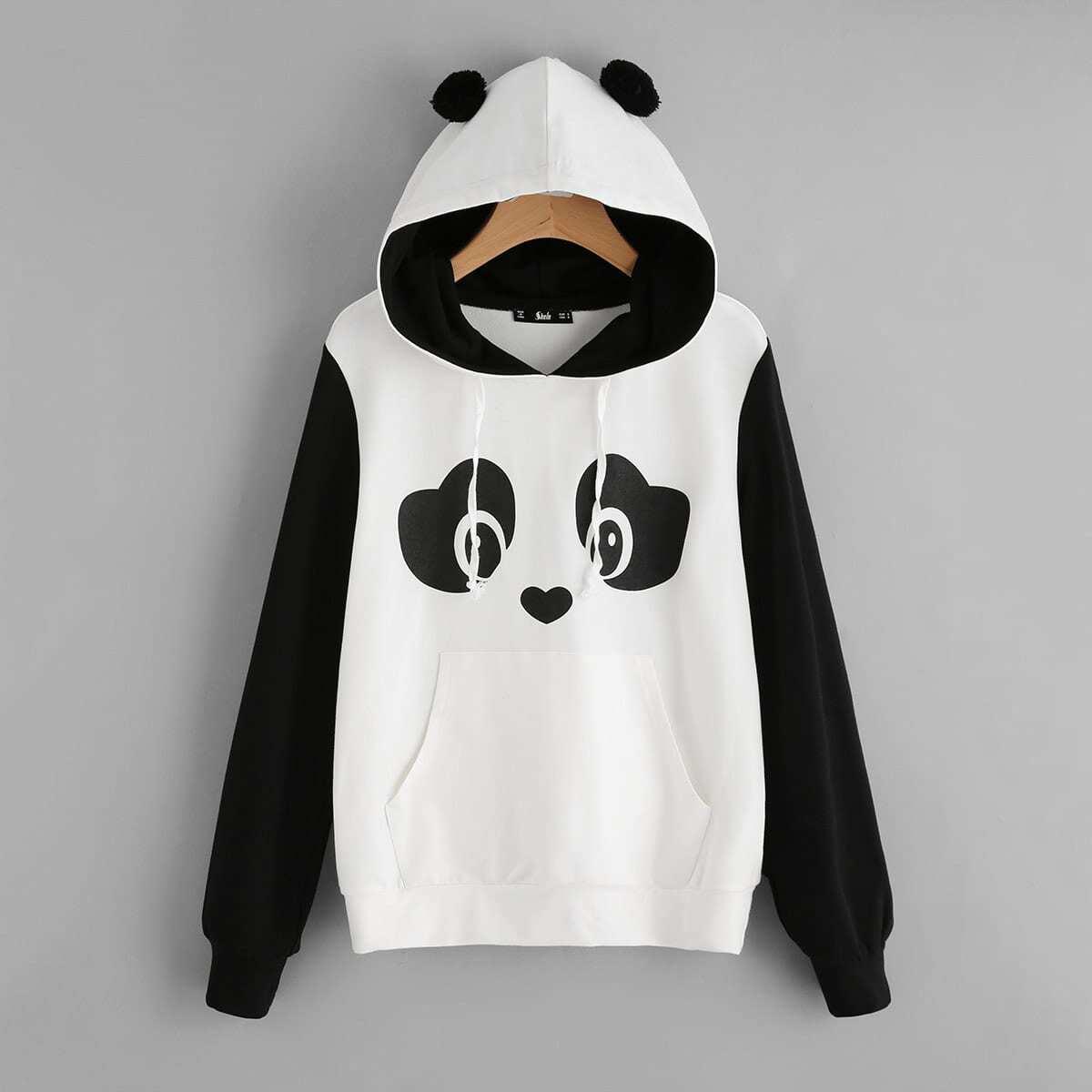 Panda grafische hoodie