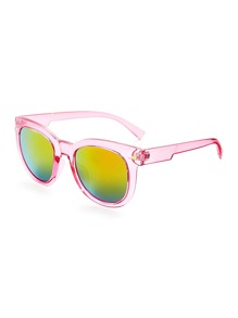 Tinted Frame Flash Lens Sunglasses