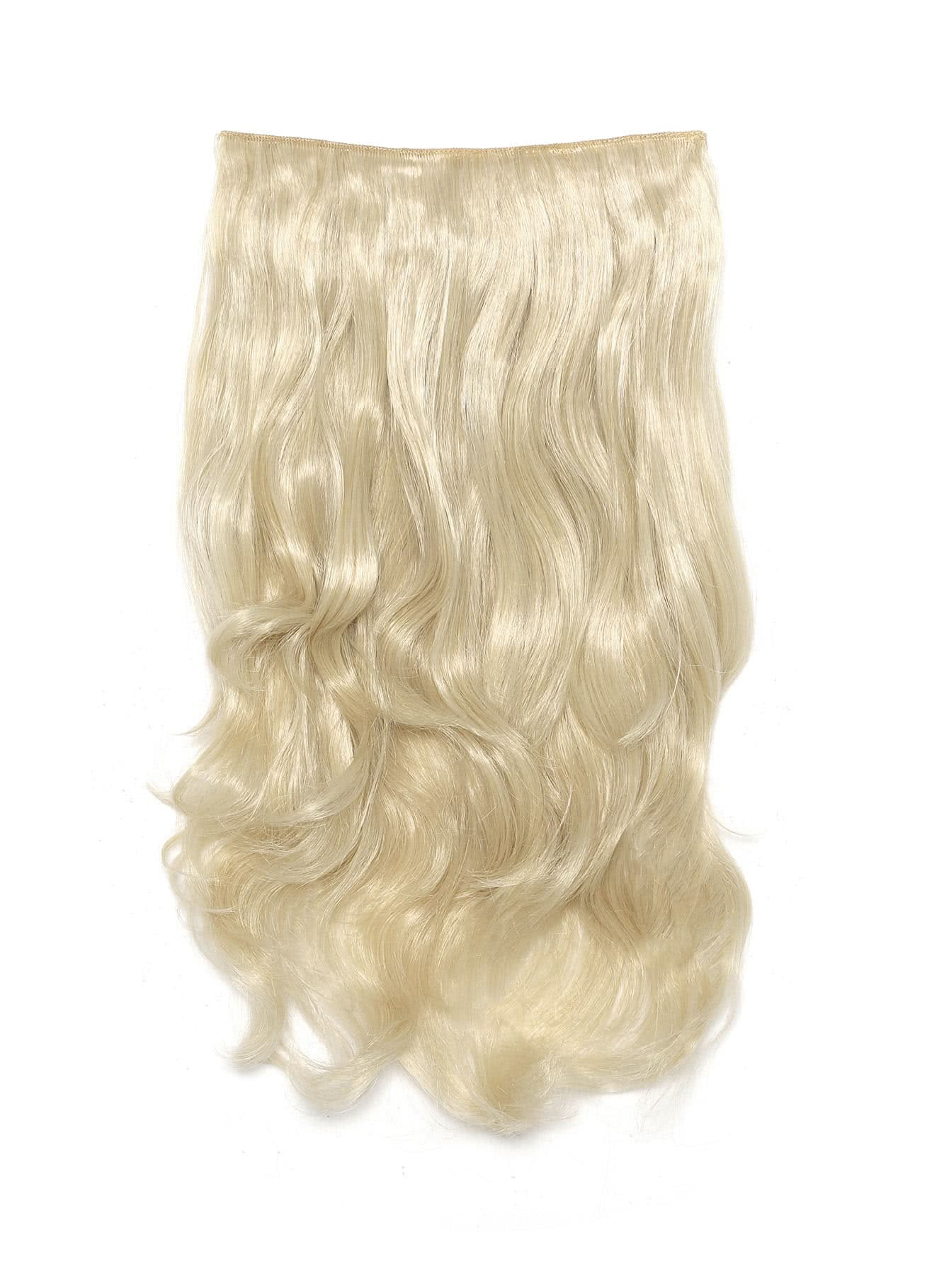 Light Blonde Clip In Soft Wave Hair Extension light blonde clip in soft wave hair extension 5pcs