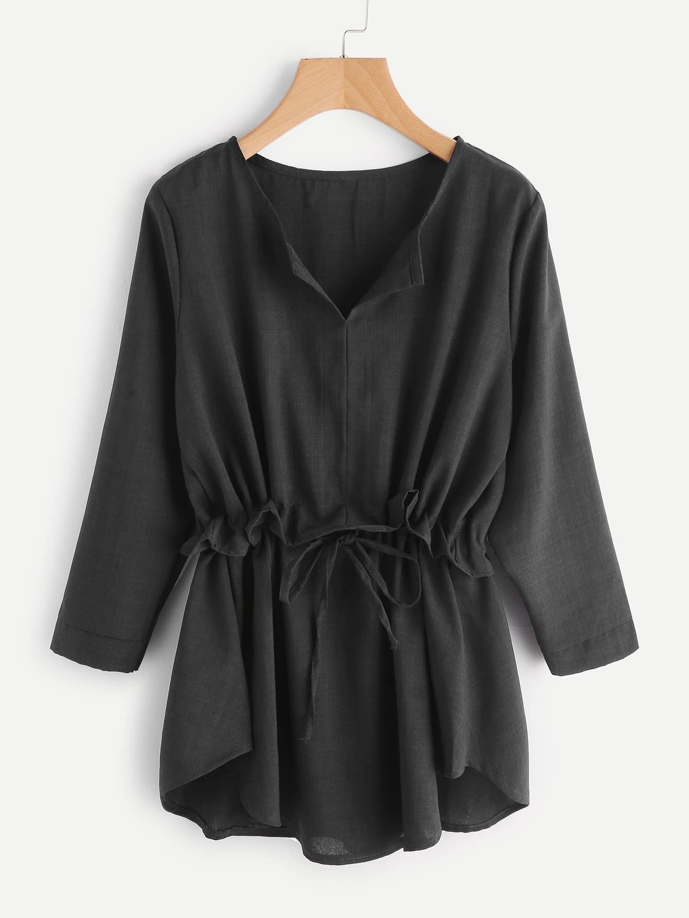 Купить Модная блуза на кулиске с оборкой, null, SheIn