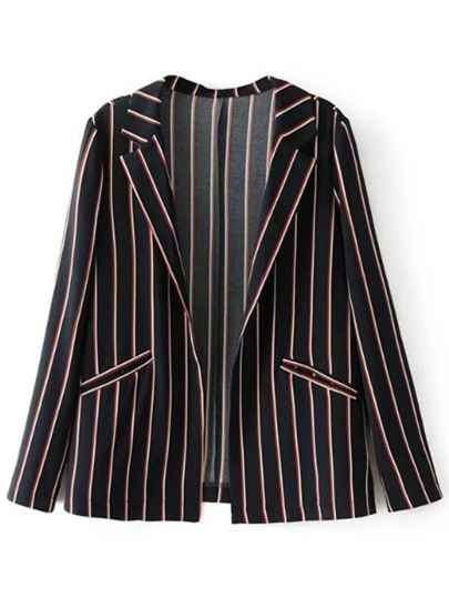 Vertical Striped Slim Fit Blazer