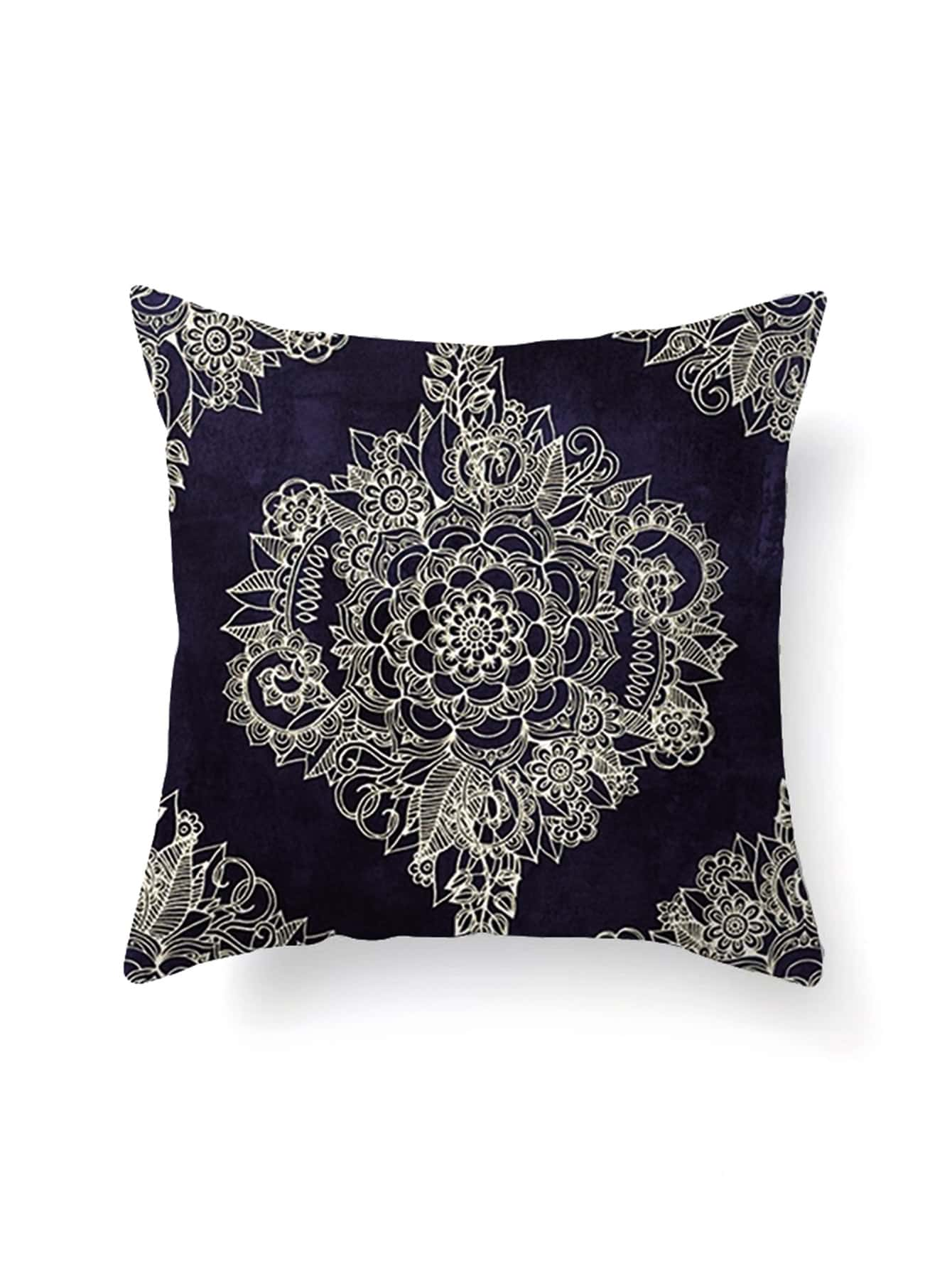 Abstract Flower Print Pillowcase Cover