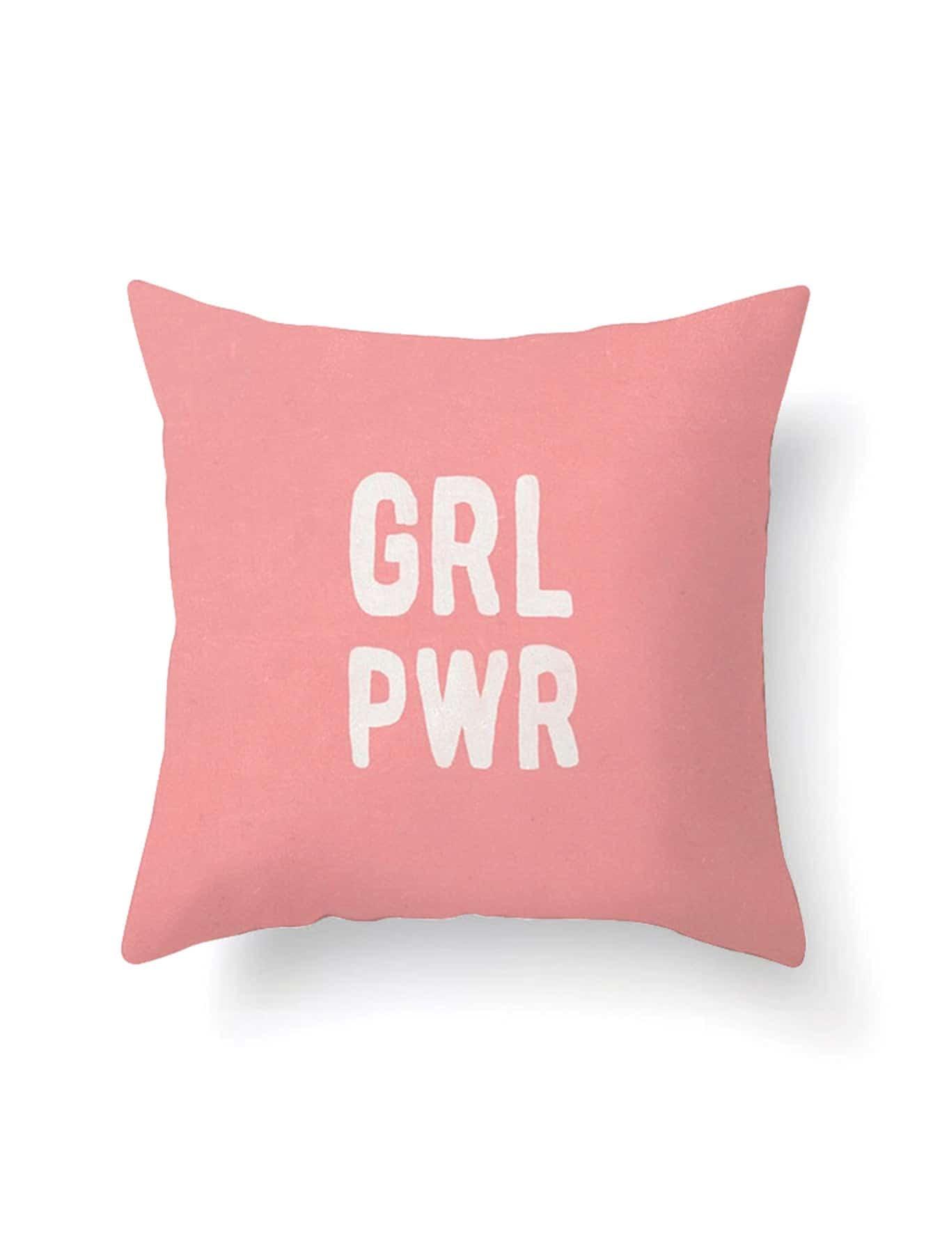 Letter Print Pillowcase Cover