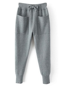 Front Pocket Drawstring Waist Sweatpants