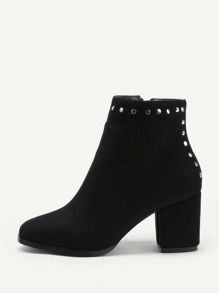 Studded Detail Chelsea Ankle Boots