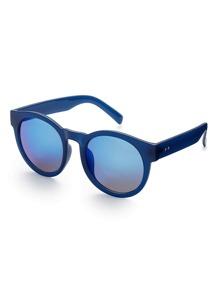 Flash Lens Round Sunglasses