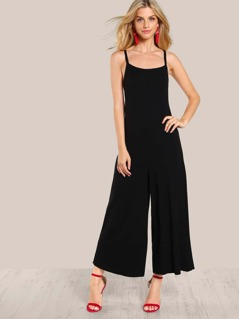 Tie Up Stretch Knit Jumpsuit BLACK