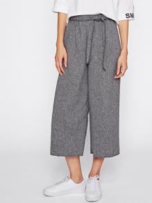 Pantalons avec jambe gros avec lacet