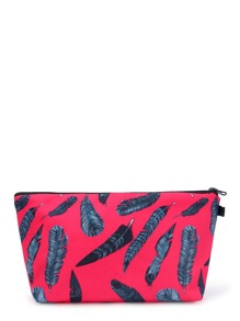 Feather Print Accessory Case