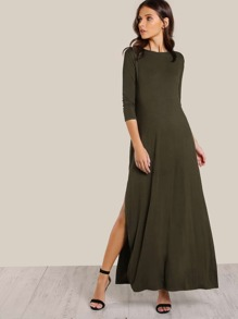 High Slit Tee Dress