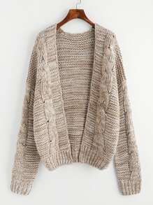 Marled Cable Knit Sweater Coat