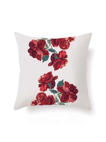 Rose Print Pillowcase Cover