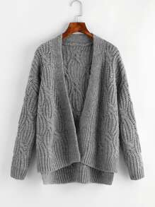 Cable Chunky Knit Cardigan