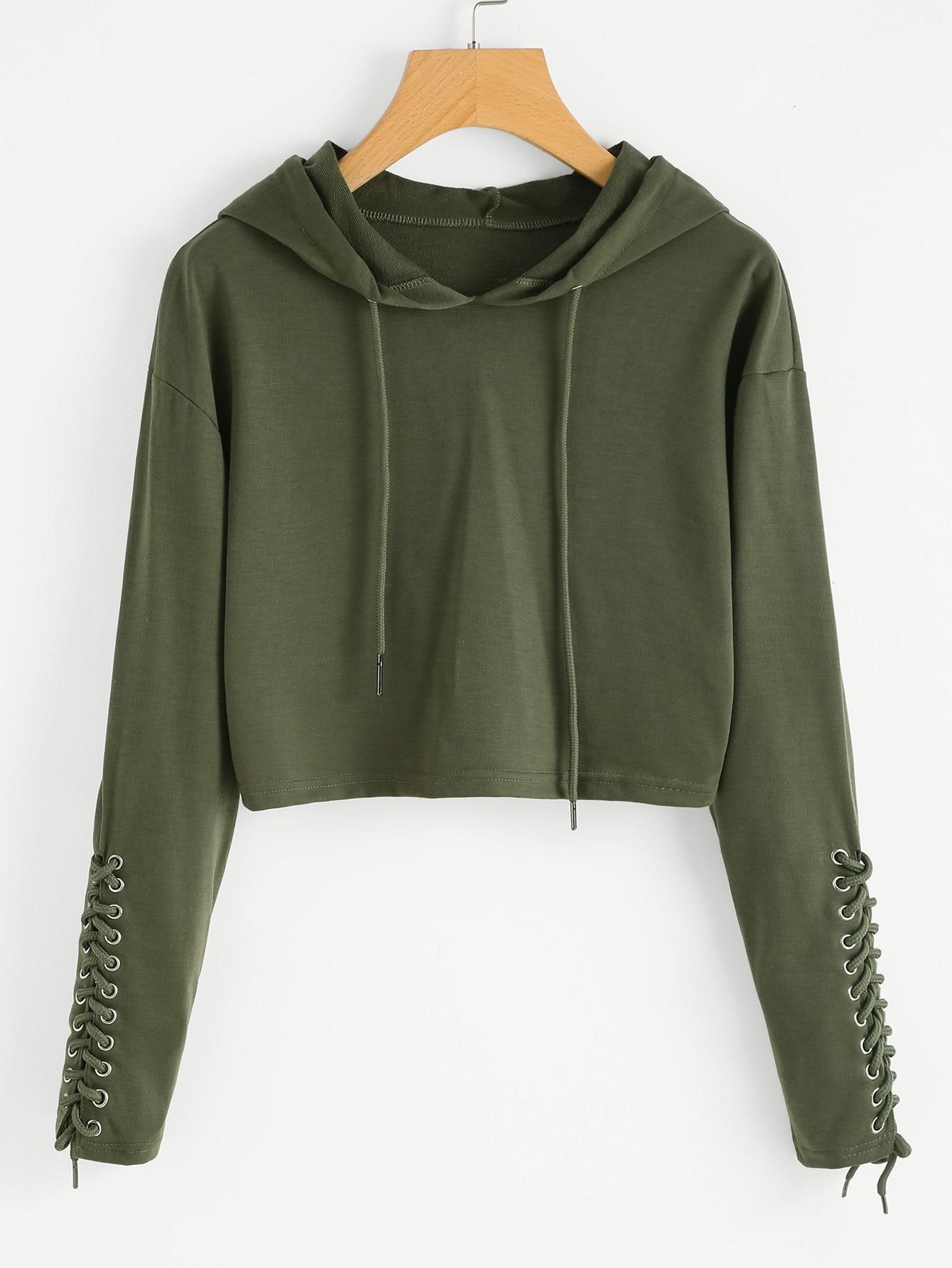 Midriff hoodie
