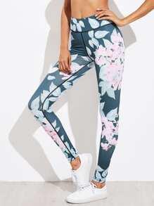 Модные спортивные леггинсы с цветочным принтом