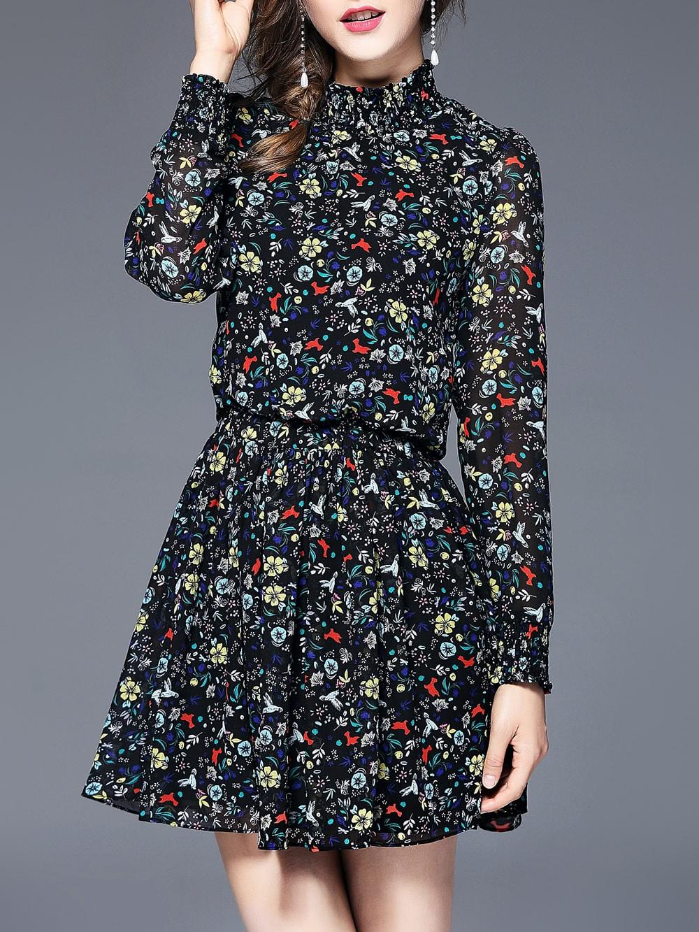 Купить Элегантный цветочный многоцветный Платья, null, SheIn