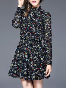 Floral Elastic-Waist Dress
