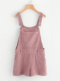 Bib Pocket Front Cord Overall Shorts