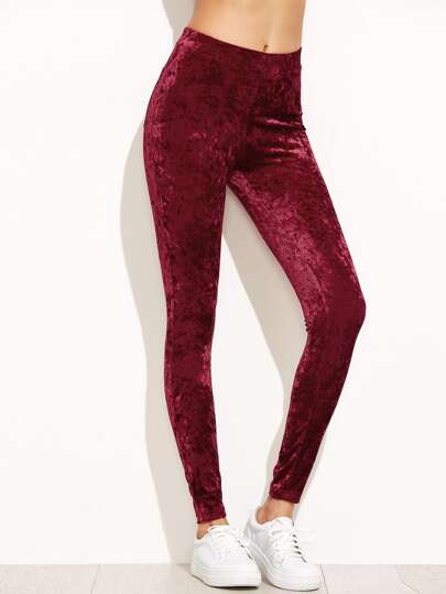 Leggings de terciopelo - burdeos