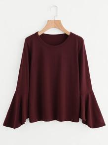 Fluted Sleeve T-shirt