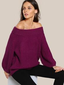 Knitted Oversize Top MAGENTA