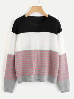 Color Block Striped Jumper