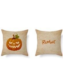 Pumpkin Print Pillowcase Cover