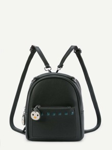 Studded Detail Backpack With Detachable Strap