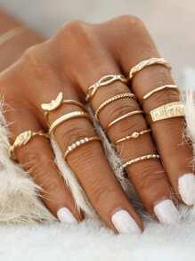 مجموعة خواتم ذهبية