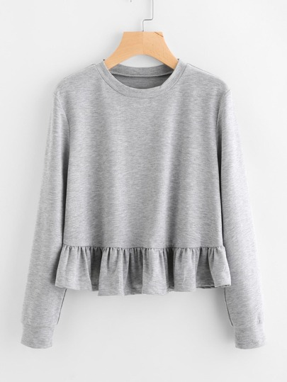 Sweat-shirt avec pan à volants