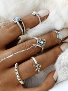 Set de anillos - plateado