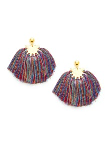 Charm Fringe Design Drop Earrings