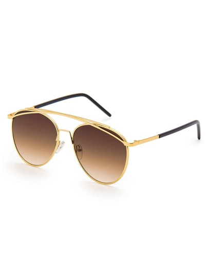 Top Bar Aviator Sonnenbrille