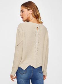 Wave Hem Multiway Sweater