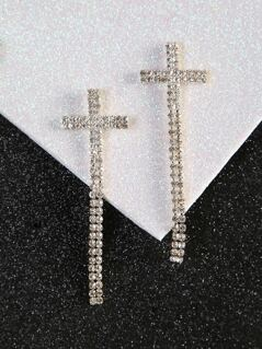 Diamond Cross Earrings GOLD