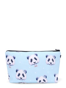 Panda Print Zipper Accessory Case