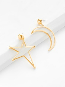 Star & Moon Mismatched Earrings