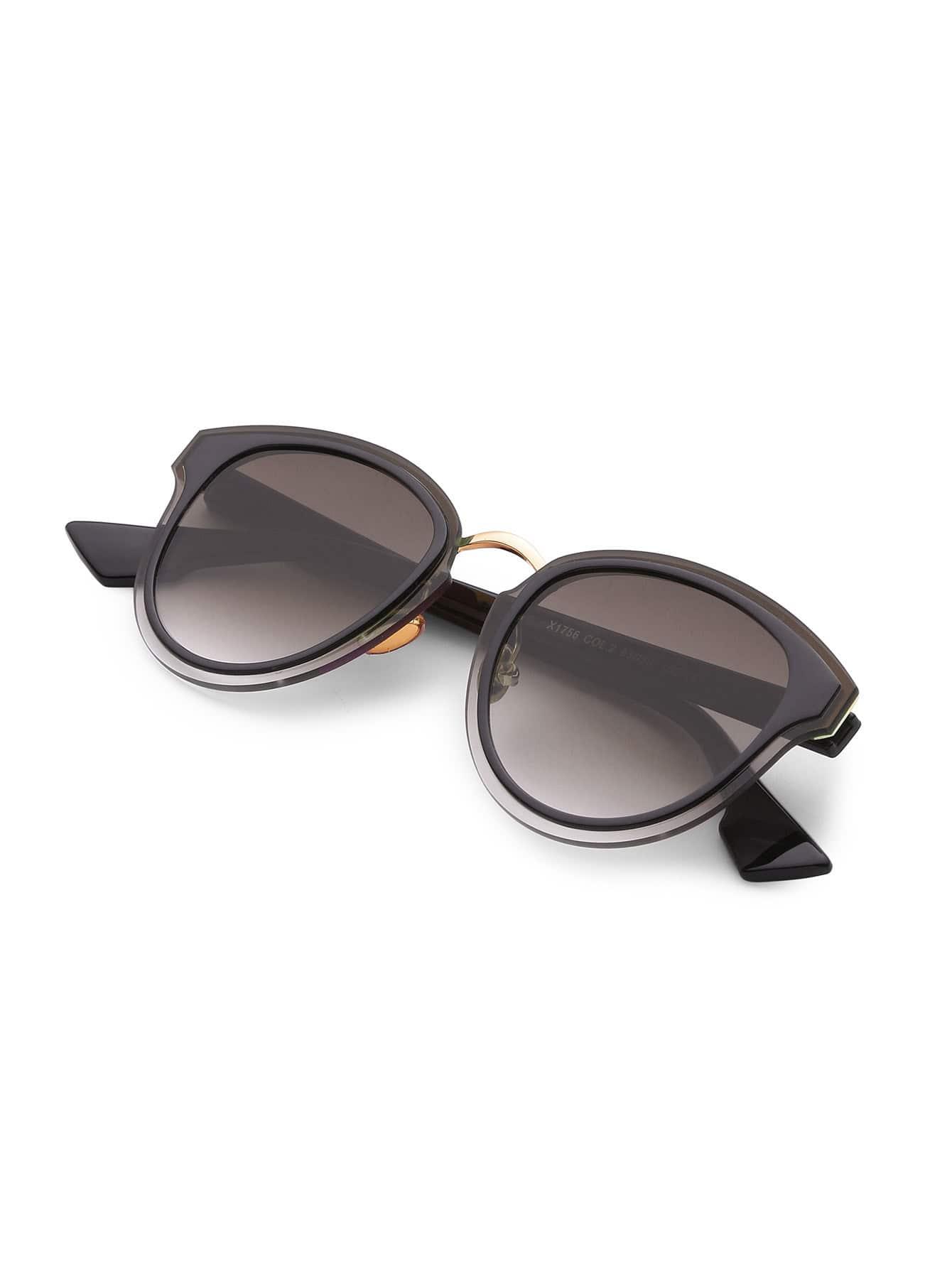 Double Frame Metal Insert Sunglasses