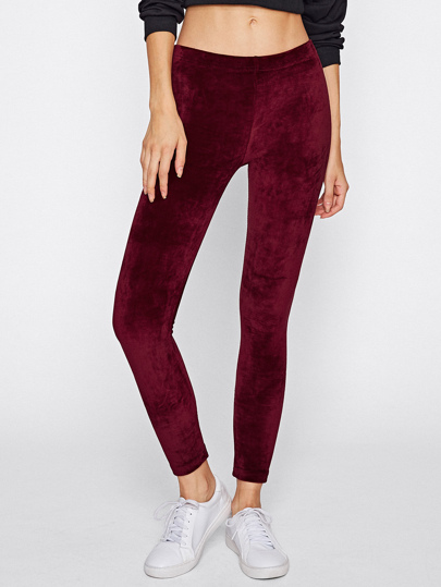 Leggings en velvet