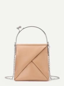 PU Shoulder Bag With Metal Handle