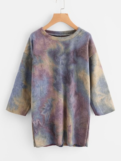 Water Color Sweatshirt Dress
